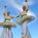 Ballerina stiltwalkers feature