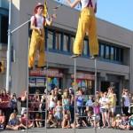 Firemen ladders 26 juggling