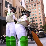 Stilt Cricketer duo