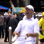 Cricketer juggling 8